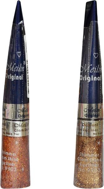 Meilin Combo pack of Shimmer Shine Eyeliner 14 ml