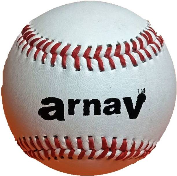 arnaV Baseball Ball Leather Official Size (9 Inch) Hand Made Baseball