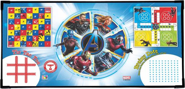 MARVEL Avengers Endgame 4-in-1 Games Multipurpose Laptop Table Board Game Accessories Board Game