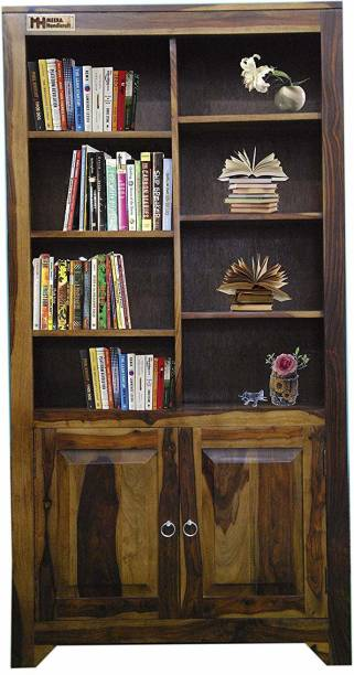 Meera Handicraft Sheesham Wood Solid Wood Semi-Open Book Shelf