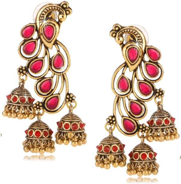b8c7a8675 Ruby Earrings - Buy Ruby Earrings online at Best Prices in India ...