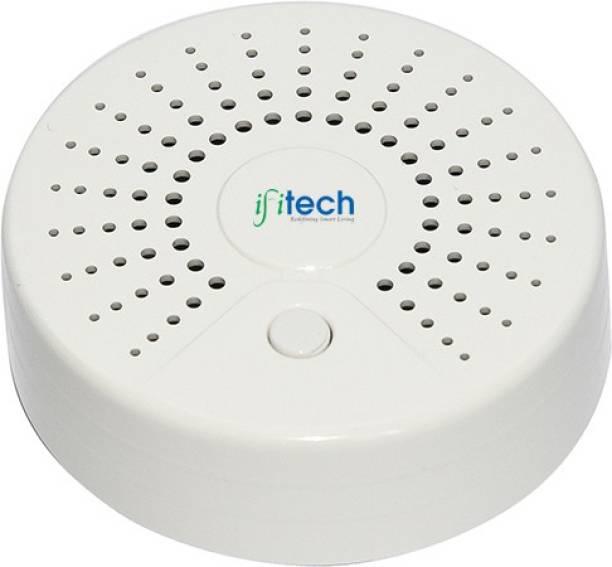 IFITech Smart Home Security WiFi Smoke Sensor/Smoke Detector with Mobile APP, Compatible with Alexa and Google Home -New Smart Home Range Smoke and Fire Alarm