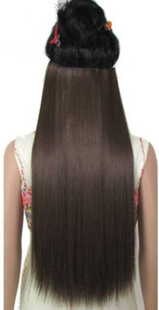 D-DIVINE 5 Clip 24 Inch Natural Brown Straight Hair Extension