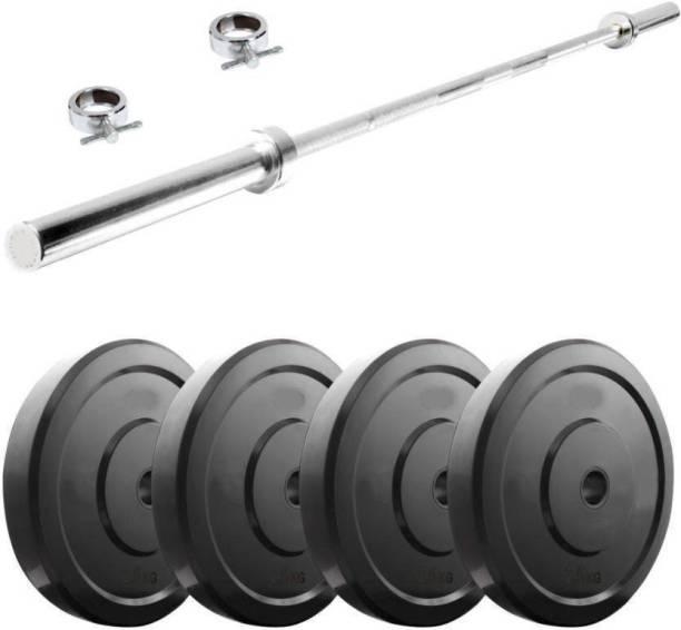 ROYAL GYM 8KG HOME GYM SET WITH 3 FEET STATE BAR ROD Gym & Fitness Kit