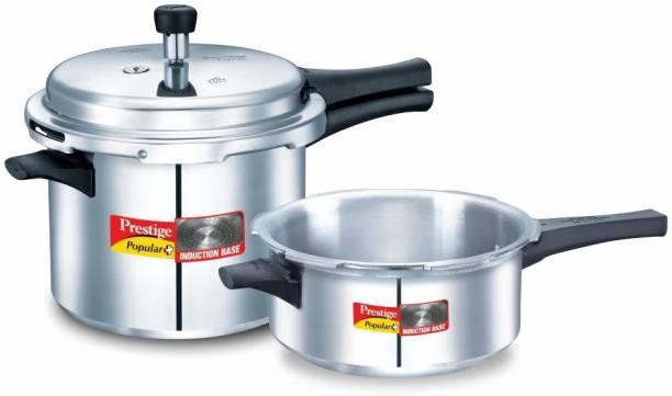 Prestige Popular Plus 5 L, 3 L Induction Bottom Pressure Cooker
