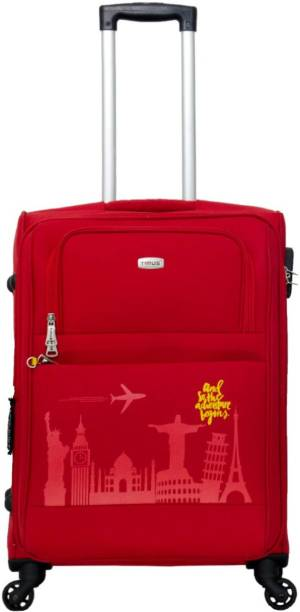 49f2f8eb4e84 TIMUS Salsa Red 65 CM 4 Wheel Strolley Suitcase For Travel ( Check-in  Luggage