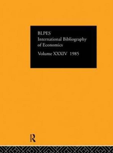 IBSS: Economics: 1985 Volume 34