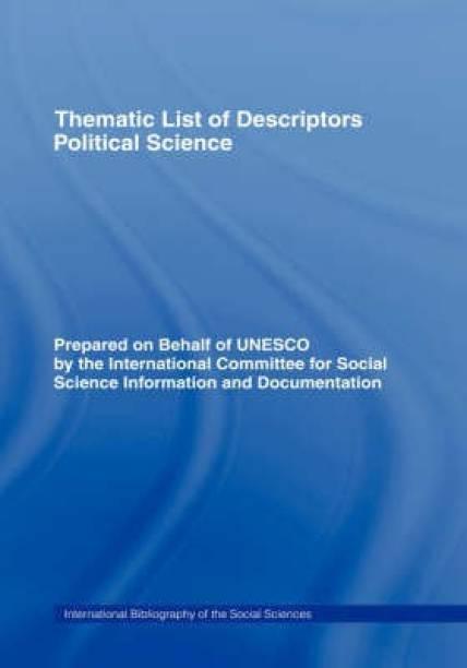 Thematic List of Descriptors - Political Science