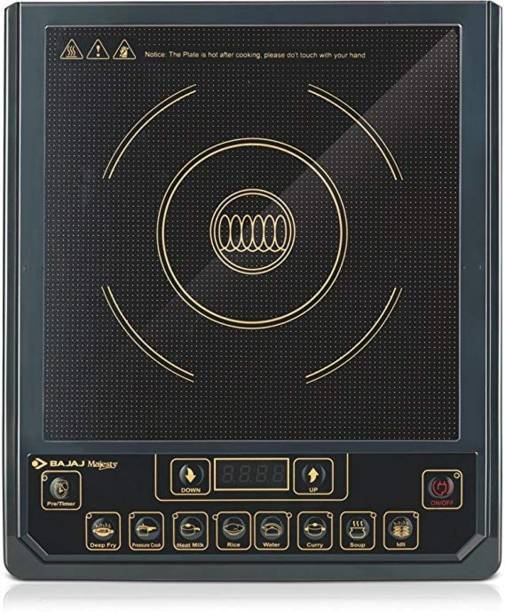 BAJAJ Majesty ICX 3 1400-Watt Induction Cooker (Black) Induction Cooktop