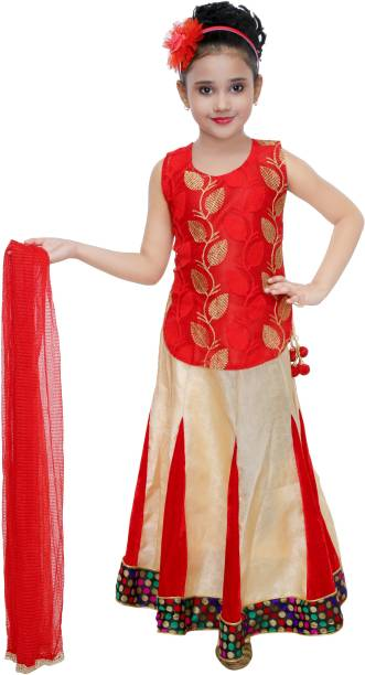 97019a9f0982 SmartRAHO Girls Lehenga Choli Ethnic Wear, Party Wear Printed Ghagra Choli