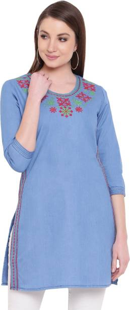 d783cf7f195 Denim Kurtis - Buy Jean Kurtis online at best prices - Flipkart.com
