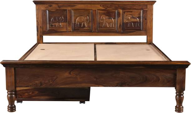 Espice Sheesham Wood Solid Wood Queen Drawer Bed