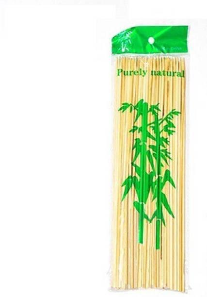 BAKE PLUS Set Of 100 Kebab stick, roast stick, Bamboo Skewers ,barbecue Sticks Disposable Wood Roast Fork