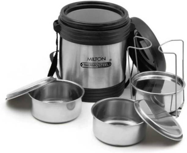 f0c5ba3c4b1 Milton Thermosteel Legend 3 Container Stainless Steel Lunch box (690 ml) 3  Containers Lunch