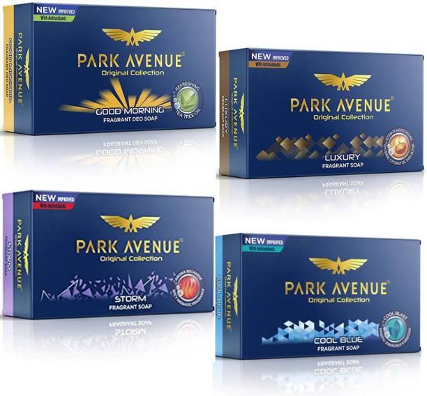 PARK AVENUE Soap GOOD MORNING, LUXURY, STORM, COOL BLUE Fragrant Soap