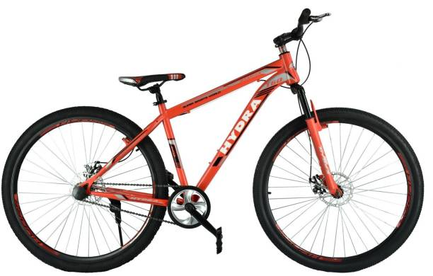 a8a67985b85 Hydra Warrior Front Suspension Dual Disc Brake Bike For Adults Red 29 T  Mountain Cycle