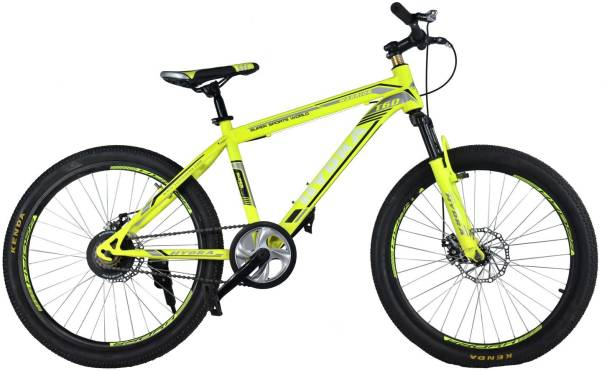 64404888ca1 Hydra Warrior Front Suspension Dual Disc Brake Bike For Adults Yellow 29 T  Mountain Cycle
