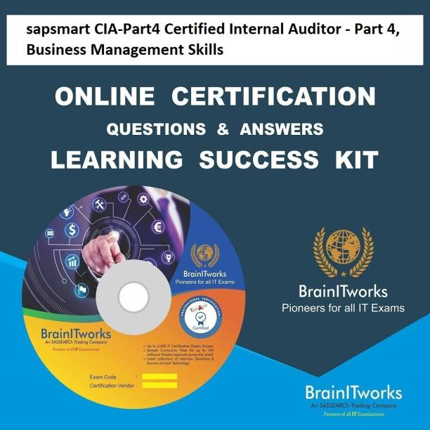 SAPSMART CIA-Part4 Certified Internal Auditor - Part 4, Business Management Skills Online Certification Video Learning Success Kit