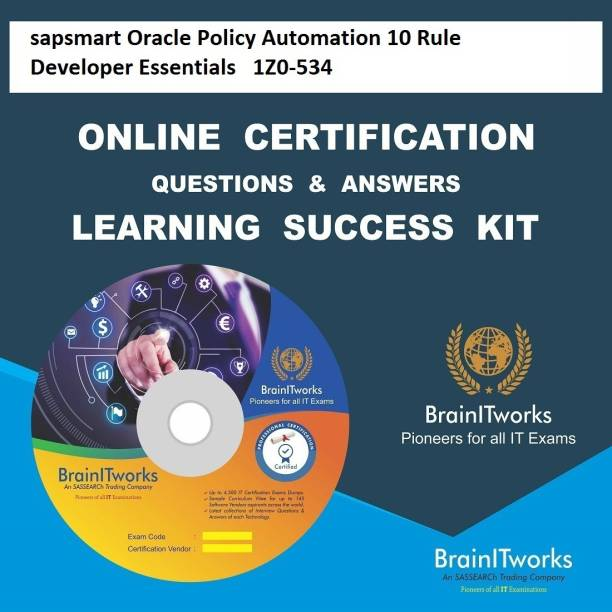 SAPSMART Oracle Policy Automation 10 Rule Developer Essentials |  1Z0-534 Online Certification & Interview Video Learning Success Kit