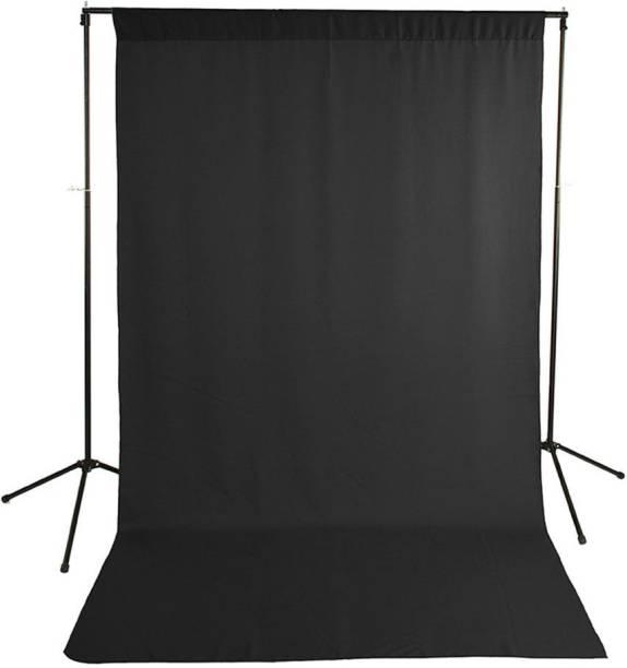 BOOSTY 8 x 10 FT BLACK LEKERA Backdrop Photo Light Studio Photography Background with Carry CASE Reflector