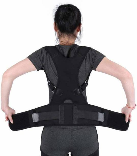 217b0218a7c Clomana Best back shooulder support belt women men fully adjustable posture  corrector Back   Abdomen Support