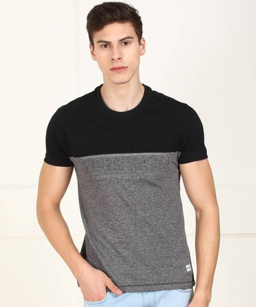 0a03c2775 Black T-Shirts - Buy Black T-Shirts Online at Best Prices In India ...
