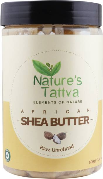 Nature's Tattva Organic Raw Shea Butter Unprocessed, From the Jungles of Africa, 500gm