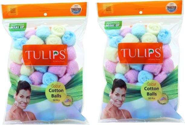Tulips Colour Cotton Balls in a Ziplock Bag