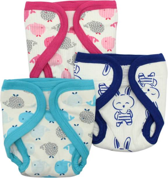 Born Babies Quirk Reusable Baby Washable Cloth Diaper Pack of 3 (9 - 12 Months)