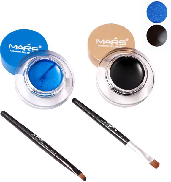 M.A.R.S 2 in 1 Black & Blue Water Proof & Smudge Proof 24hrs Gel Eyeliner 8 g