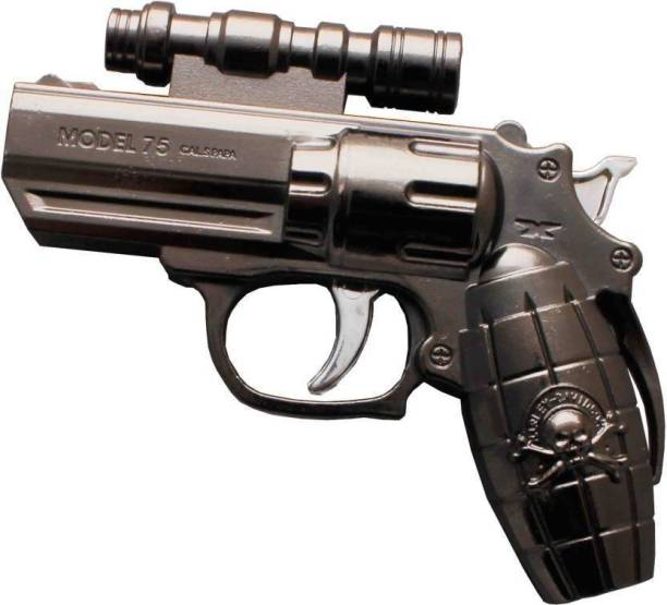 OsRpE PIA LASER GUN Steel Gas Lighter