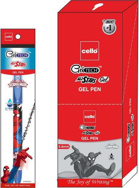 Cello Geltech All Star Spiderman Blue Gel Pen