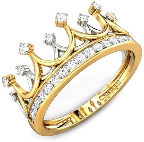 a2b46e2dd39 Candere by Kalyan Jewellers Cubic Zirconia Collection 22kt Cubic Zirconia  Yellow Gold ring