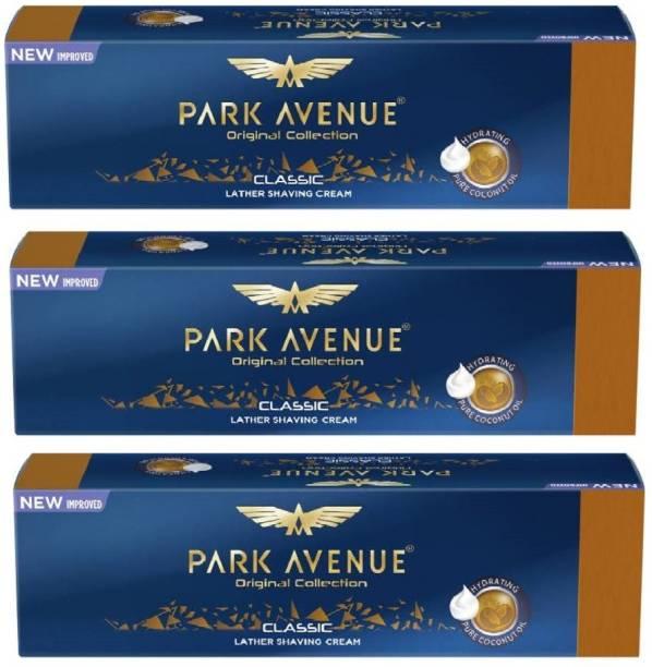 PARK AVENUE Classic Lather Shaving Cream 30g pack of 3