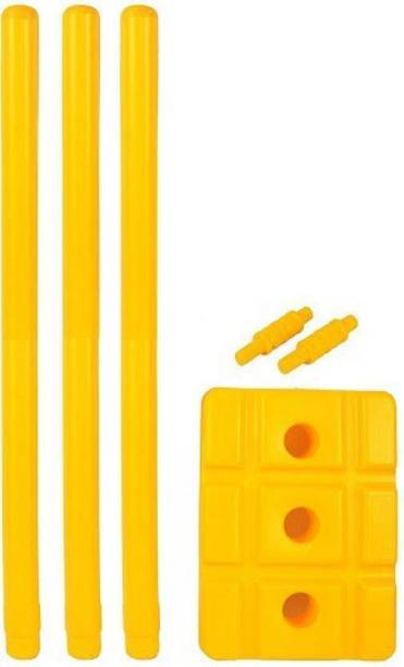 fosco Heavy Plastic Cricket Stumps Wickets Set - 3 Stumps, 1 Base, 2 Bails