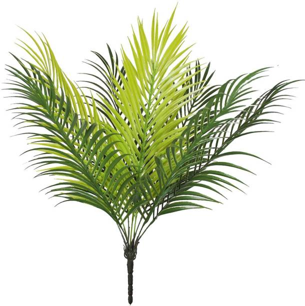 """FOURWALLS Artificial Greenery Plant 19"""" Tall Palm Leaf Plants Faux Fake Tropical Palm Fronds Plants Palm Tree for Home Party Wedding Decorations Artificial Plant"""