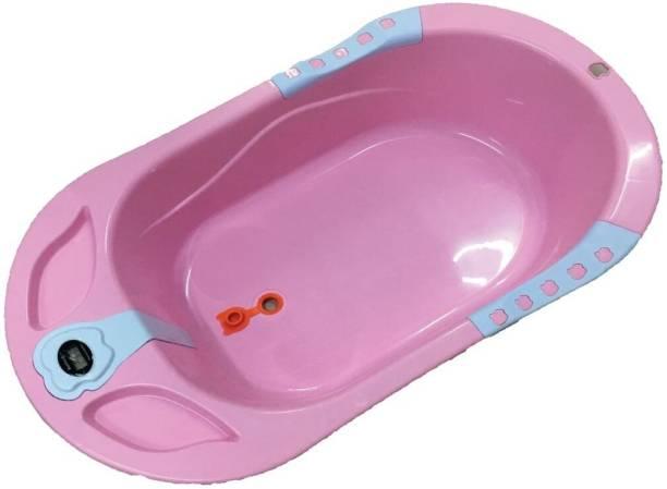 Miss   Chief Baby Bathtub Newborn Flexibath Bathtub with Temperature Sensor  for Baby (Pink) 453ff5cd0