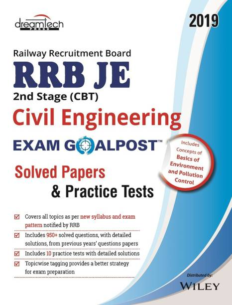 Railway Recruitment Board RRB JE 2nd Stage (CBT) Civil Engineering Exam Goalpost - Solved Papers and Practice Tests 2019 1 Edition