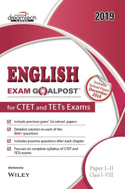 English Exam Goalpost for CTET and TETs Exams - Paper I - II Class I - VIII 2019 1 Edition