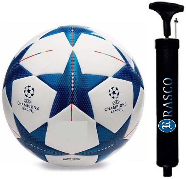 RASCO COMBO BLUE STAR FOOTBALL WITH AIR PUMP Football - Size: 5