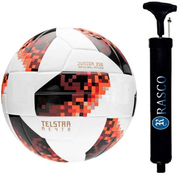 RASCO COMBO RED FOOTBALL WITH AIR PUMP Football - Size: 5