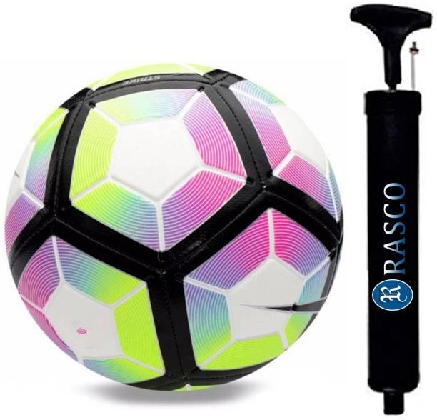 RASCO COMBO 12 PANEL PURPLE FOOTBALL WITH AIR PUMP Football - Size: 5