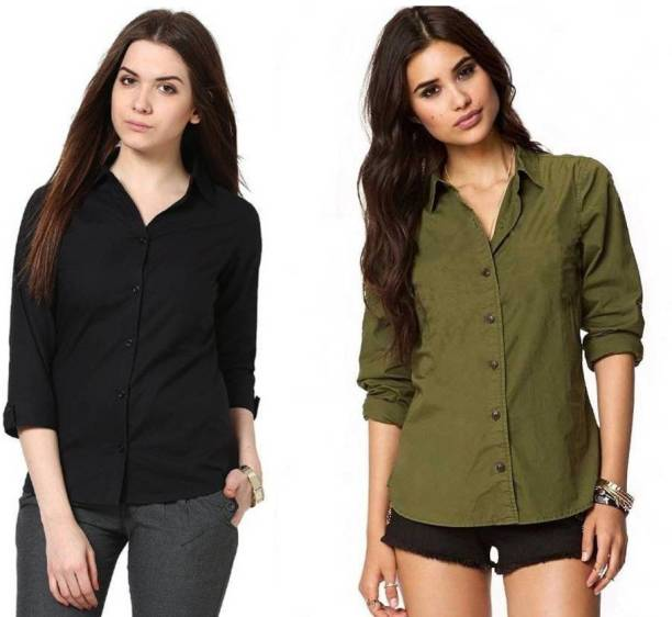 13e67cab186ed1 Women s Shirts Online at Best Prices In India