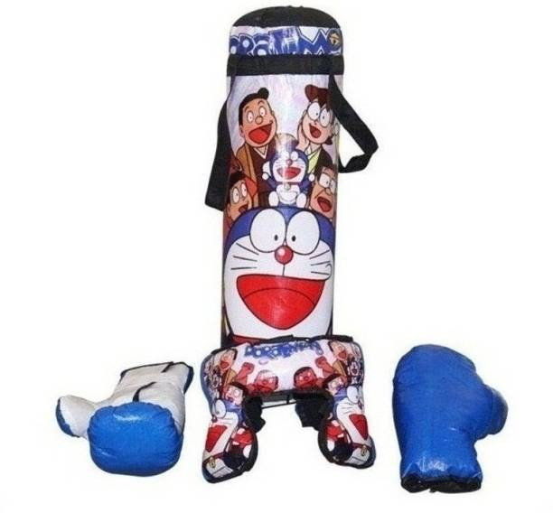 SPORTSHOLIC Kids Boxing Punching Bag With 2 Gloves and 1 Head guard For Kids Boys Girls 3 To 8 Years Boxing Kit