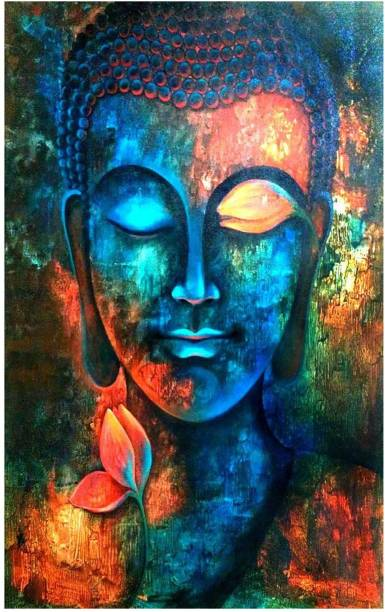 God Buddha Poster for room Paper Print