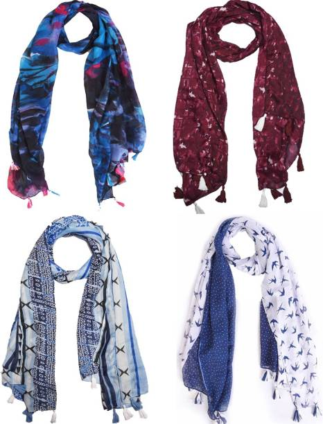 41e3c45d5b1947 Ziva Fashion Printed Cotton Poly Women Scarf