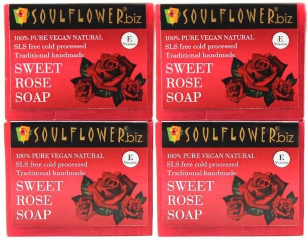 Soulflower Sweet Rose Soap Regime