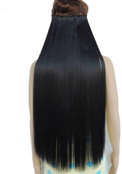 8351a4a8b9 Vivian New Clip And Go Straight Dark Black Long Extension- Hair Extension