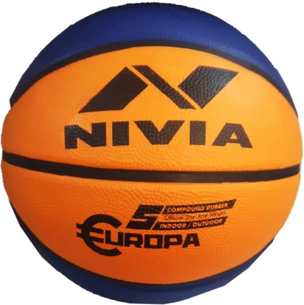 NIVIA Europa Top Grip All Surface Basketball Size 5, MULTICOLOR Basketball - Size: 5