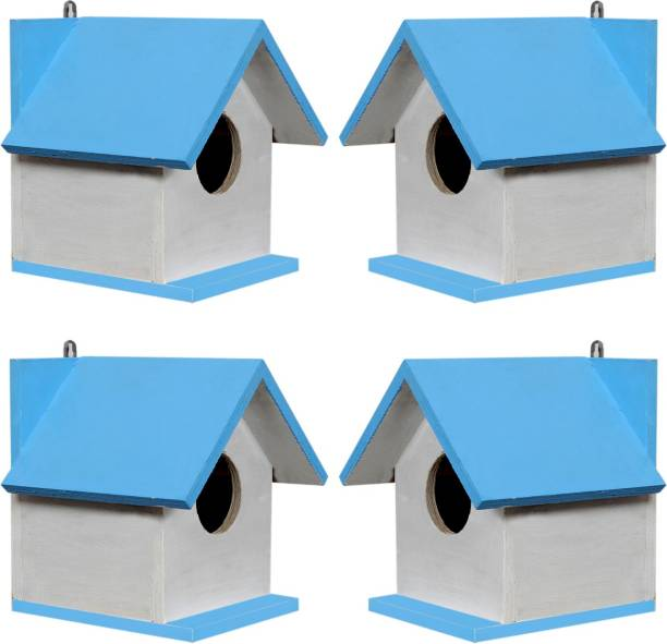 Paxidaya WOODEN BIRD HOUSE 04 PIECE. Bird House